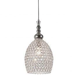 Elza Nickel-Crystal Hanging Lamp