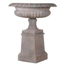 Large Sandstone Urn on a Plinth