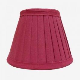 Raspberry Coloured Cotton Lampshade
