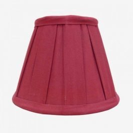 Strawberry Coloured Cotton Lampshade