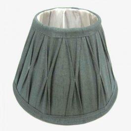 Blue Silk Lampshade