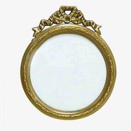 Round Golden Photo Frame