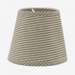 Stripped Grey Cotton Candle Bulb Lampshade