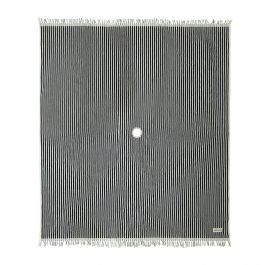 Navy Striped Beach Blanket
