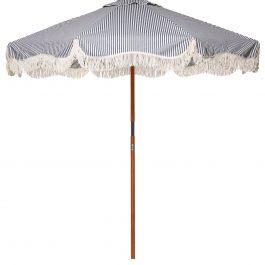 Market Umbrella in Laurens Navy Stripe