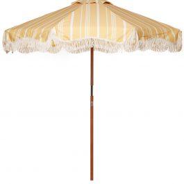 Vintage Yellow Stripe Market Umbrella