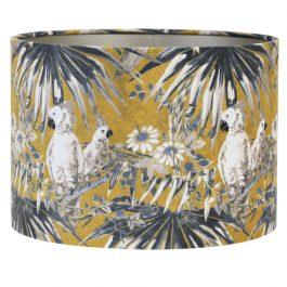 Velours Parrot Ochre Cylinder Shade