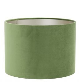 Velours Dusty Green Cylinder Shade