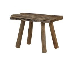 Cedro Brown Wooden Stool