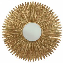 Handmade Brass Feathered Mirror