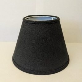 Small Black Linen Lampshade